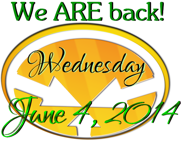 graphic of we are back