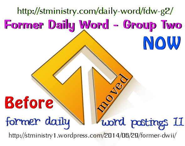 graphic for former daily word postings ii