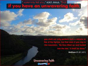 picture for unwavering hope faith - kailua river