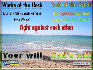 picture for flesh vs spirit
