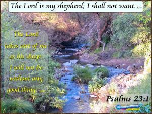 picture for the lord is my shepherd