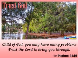 picture for trust god - lake evans, riverside, ca