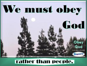picture for obey god