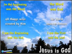 picture for jesus is god