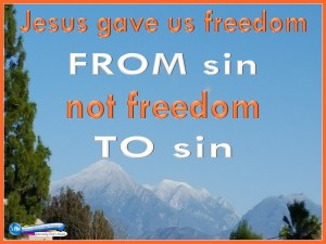 picture for freedom from sin