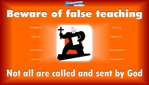 graphic of a bible teacher for false teachers