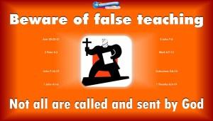 graphic of a bible teacher for false teachers