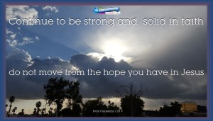 picture of cloudy day with sun breaking clouds for strong faith hope bible study