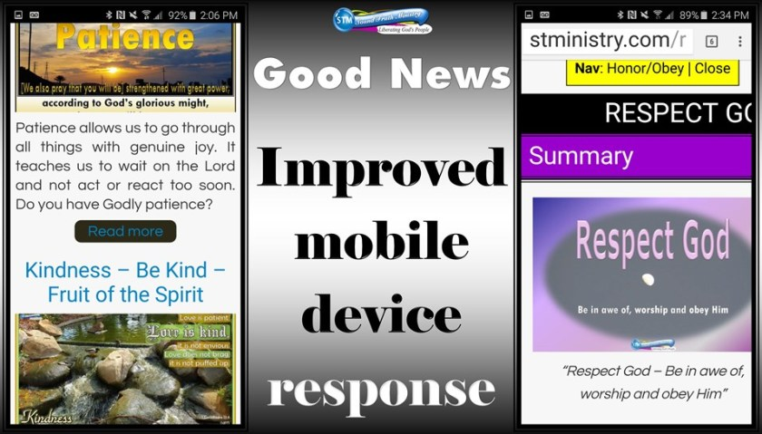 graphic for sound truth ministry; modile device news